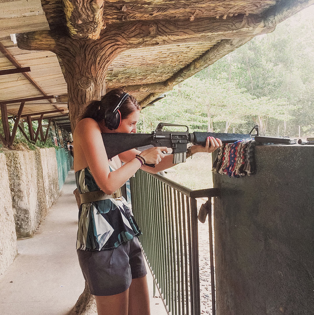 Shooting an M16 near the Cu Chi Tunnels