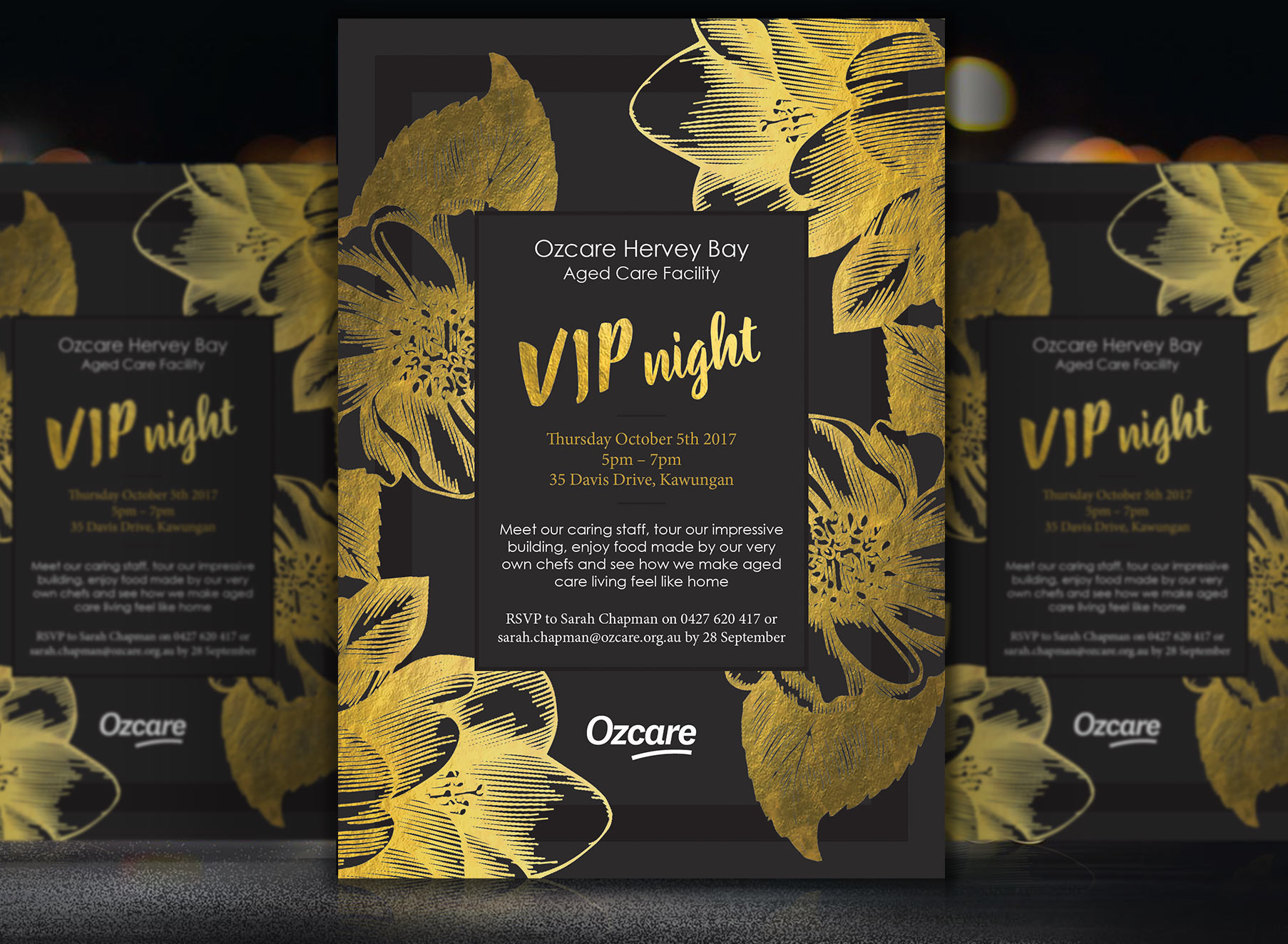 Ozcare Hervey Bay VIP Night Invite - Folio