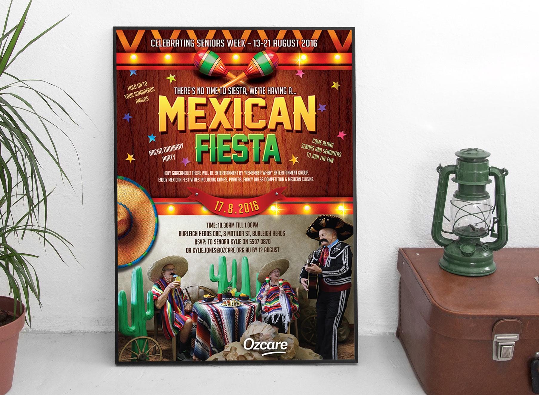 Ozcare Mexican Fiesta Poster