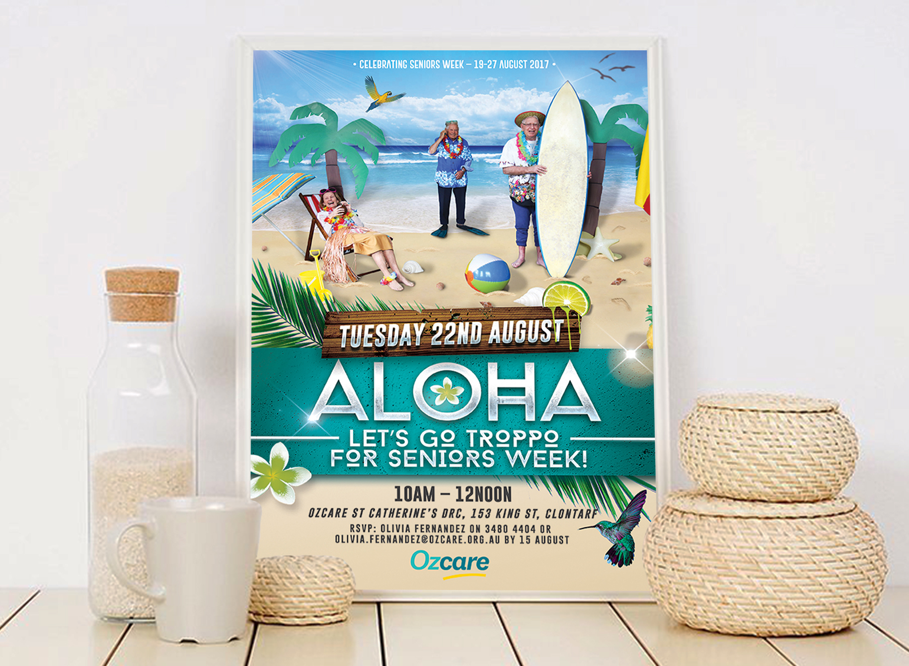 Ozcare Tropical Poster - Folio Graphic Design
