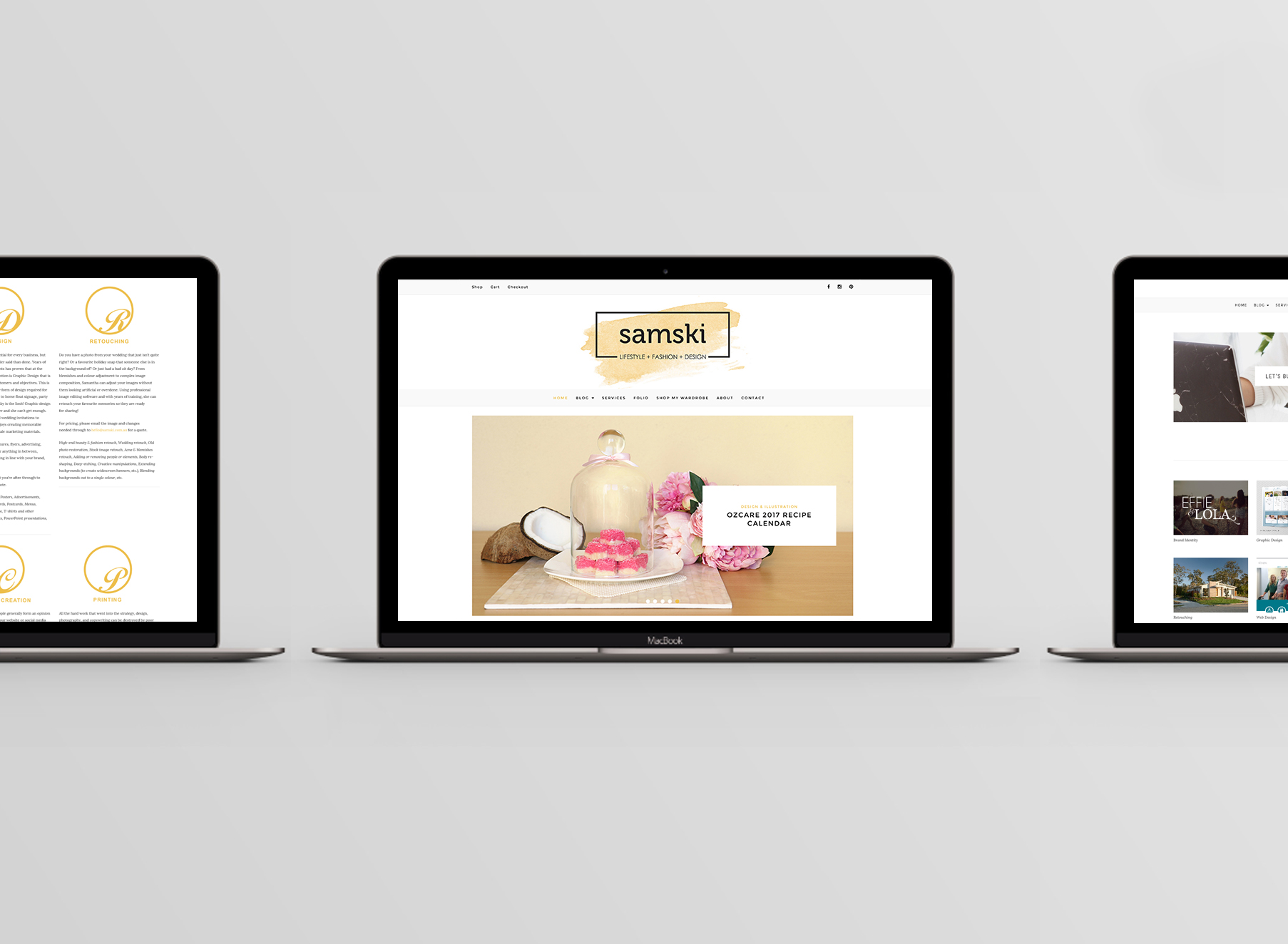 Samski Website Mockup - Folio