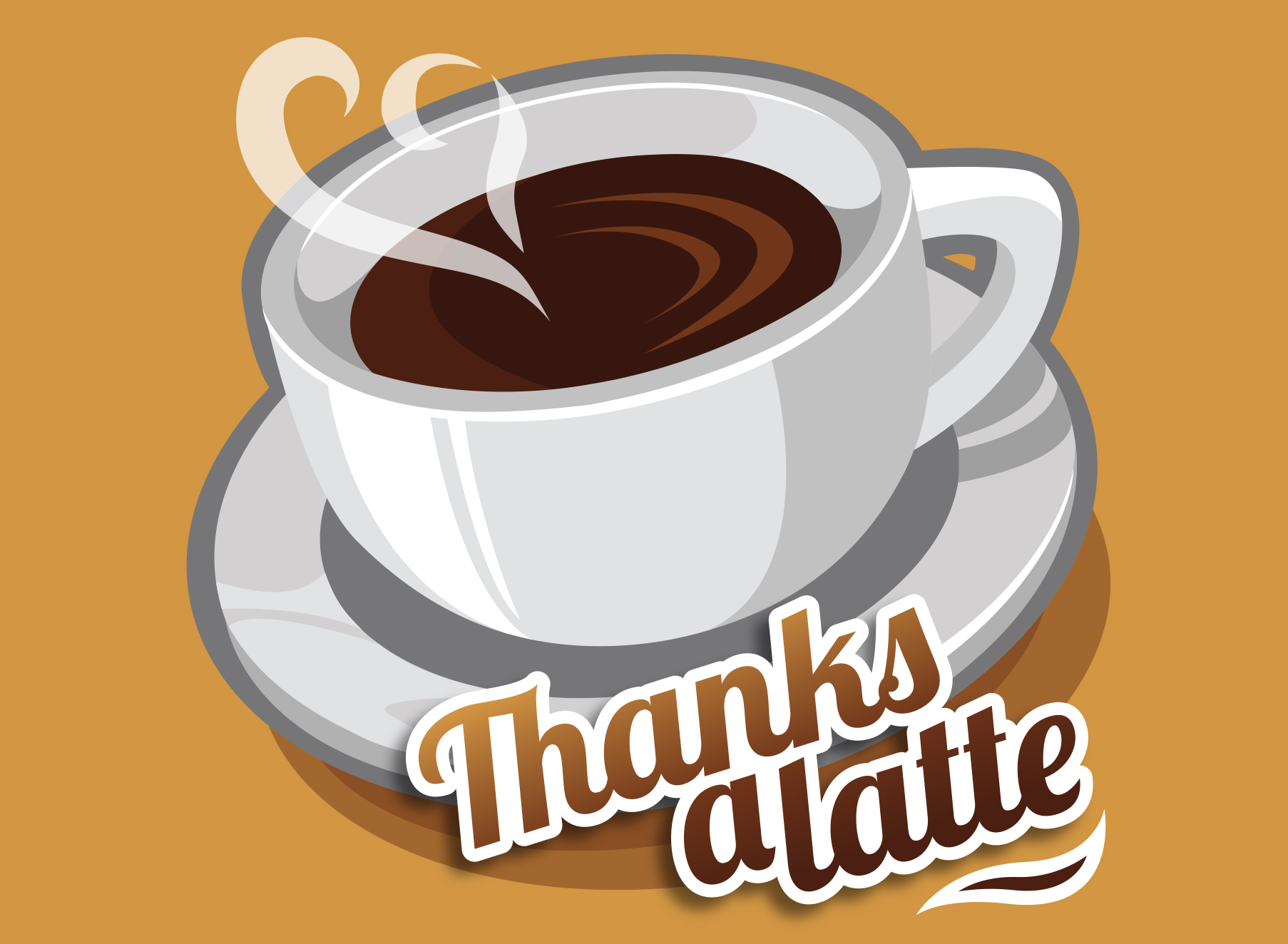 Thanks A Latte - Illustration - Folio