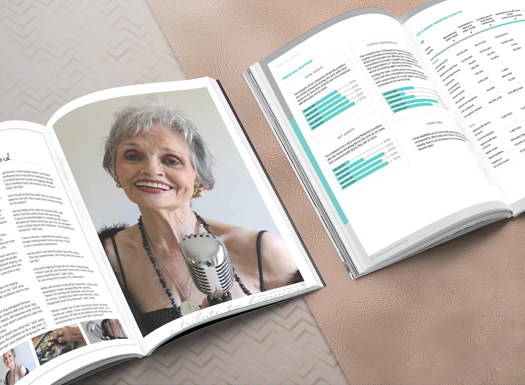 Ozcare 2016 Annual Report - Folio Graphic Design