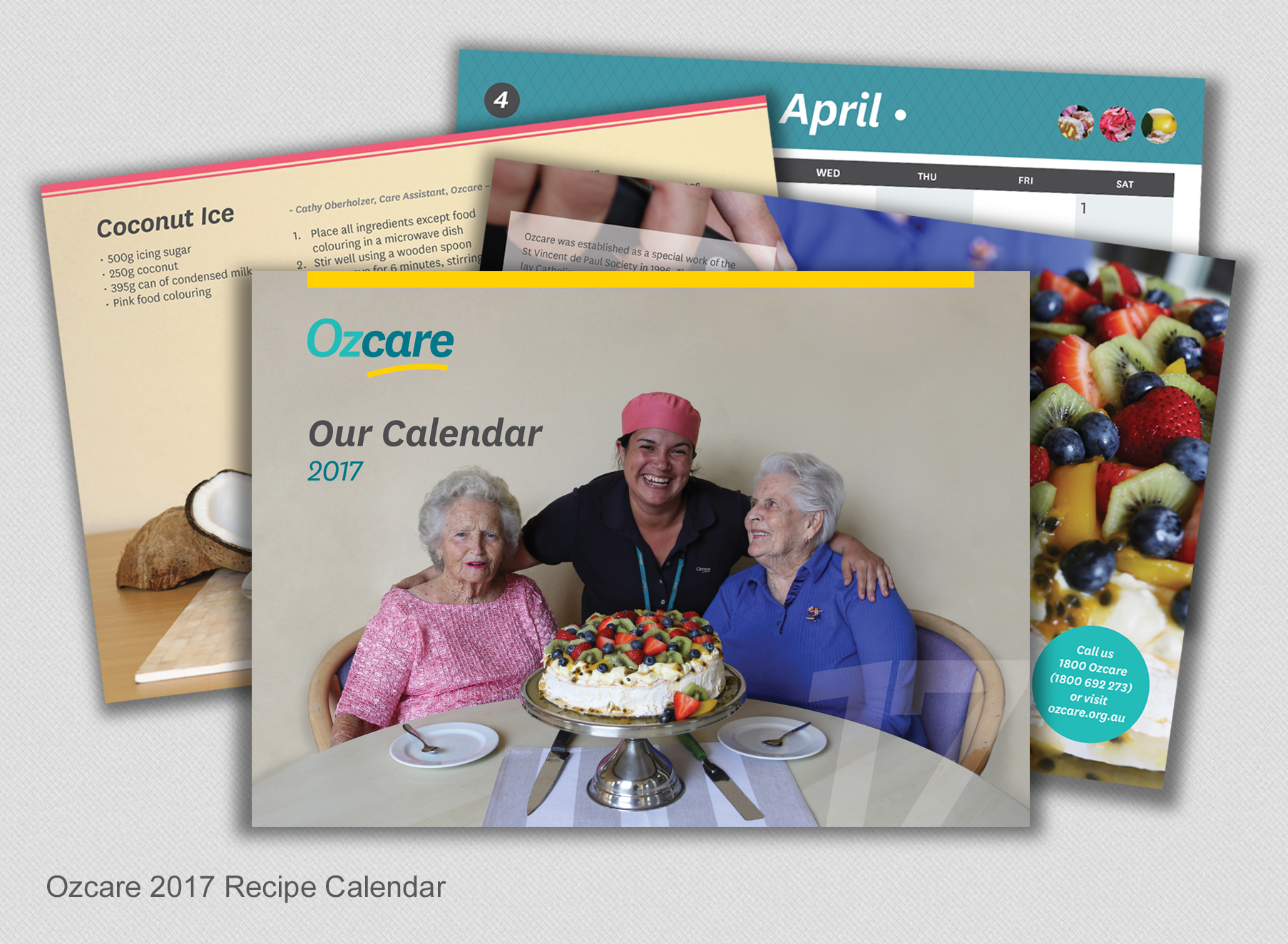 Ozcare Calendar - Folio Graphic Design
