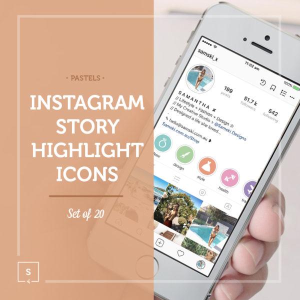 Samski Pastel Instagram Story Highlights Pastel
